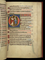 Historiated Initial With The Anointing Of David, In A Psalter Preceded By Miniatures And A Calendar